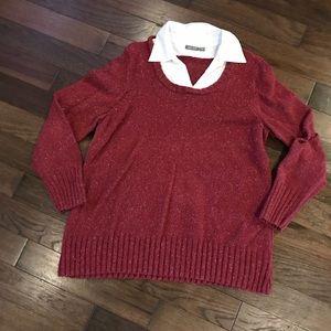 Apt 9 maroon sweater with colar